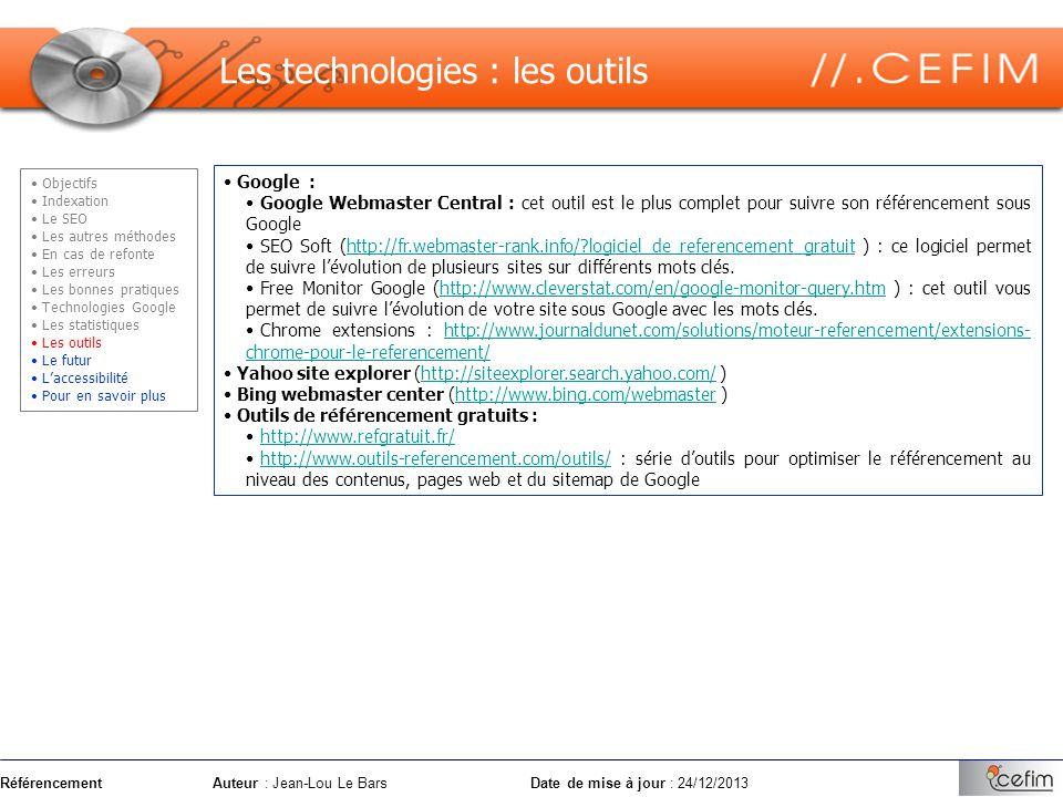 Les technologies : les outils