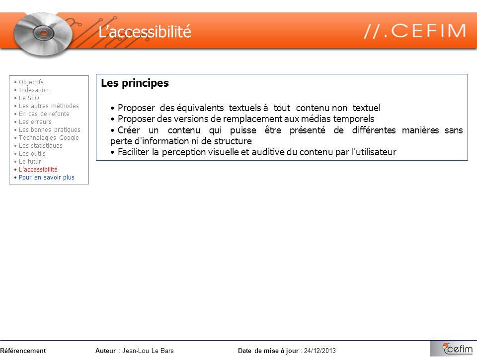 L'accessibilité Les principes