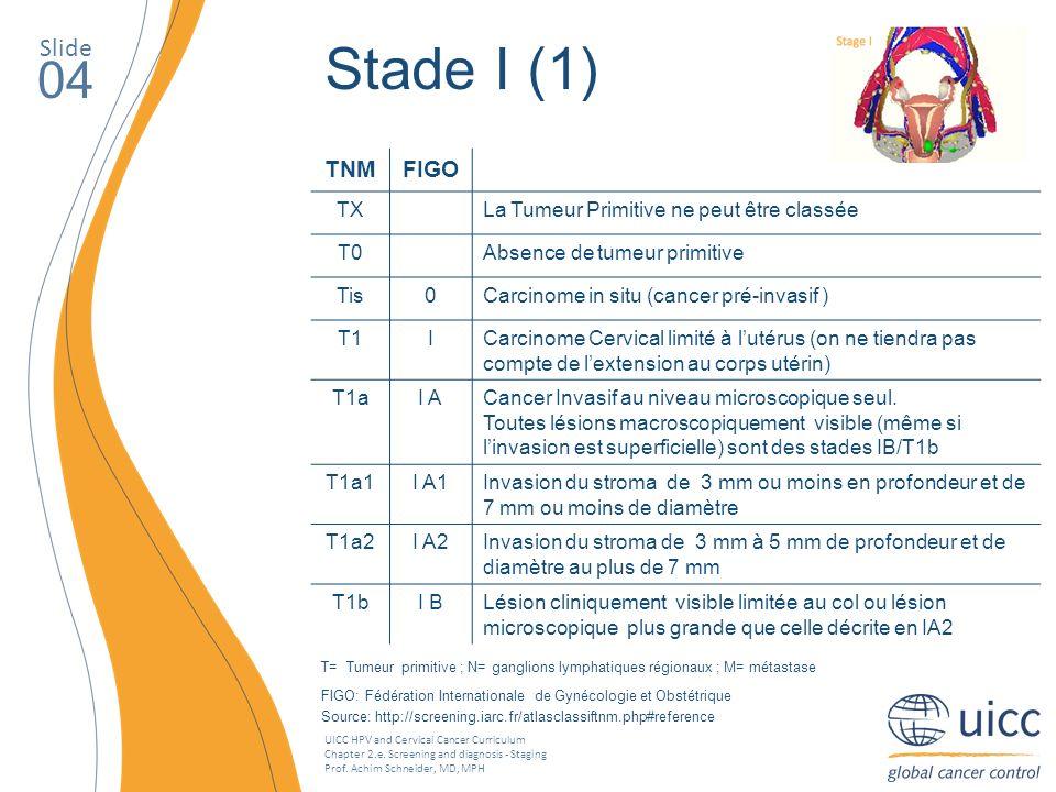 Stade I (1) 04 Slide TNM FIGO TX
