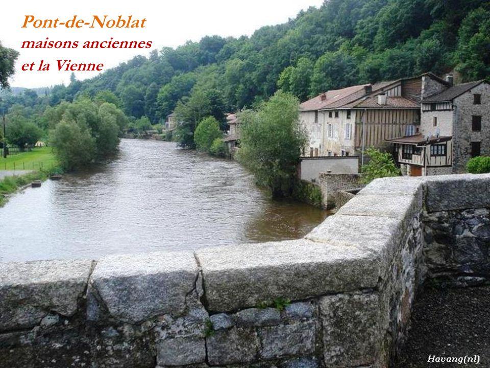 Pont-de-Noblat maisons anciennes et la Vienne