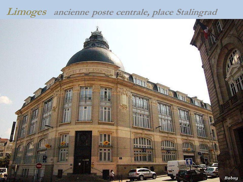 Limoges ancienne poste centrale, place Stalingrad