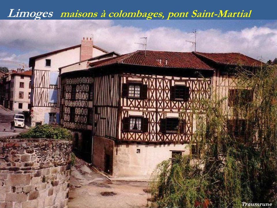 Limoges maisons à colombages, pont Saint-Martial