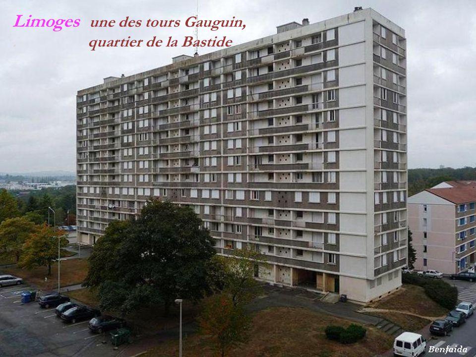 Limoges une des tours Gauguin, . quartier de la Bastide