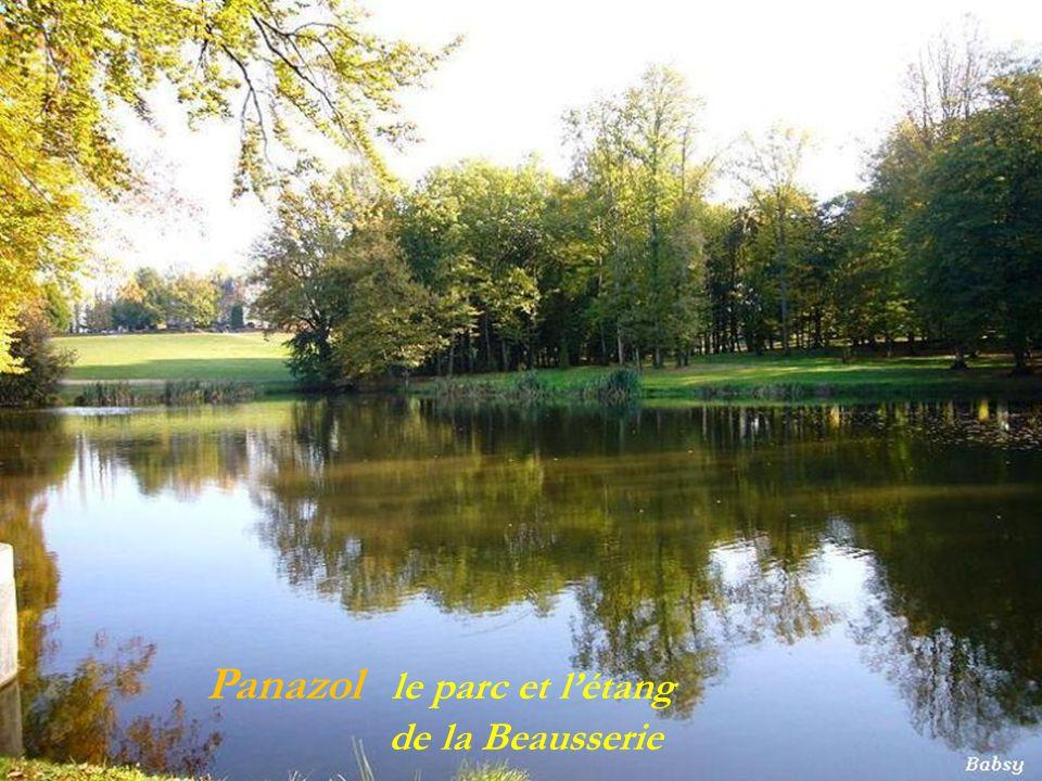 Panazol le parc et l'étang . de la Beausserie