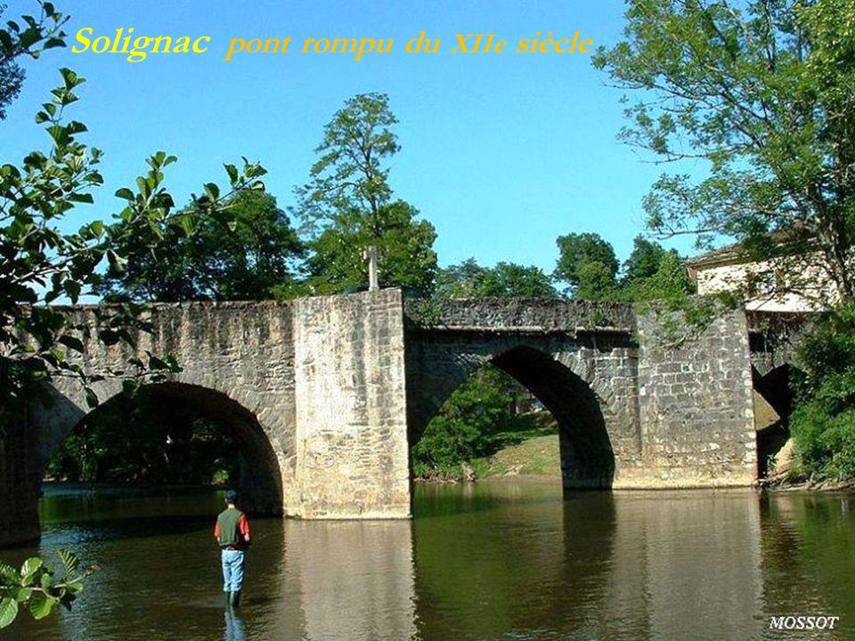Solignac pont rompu du XIIe siècle