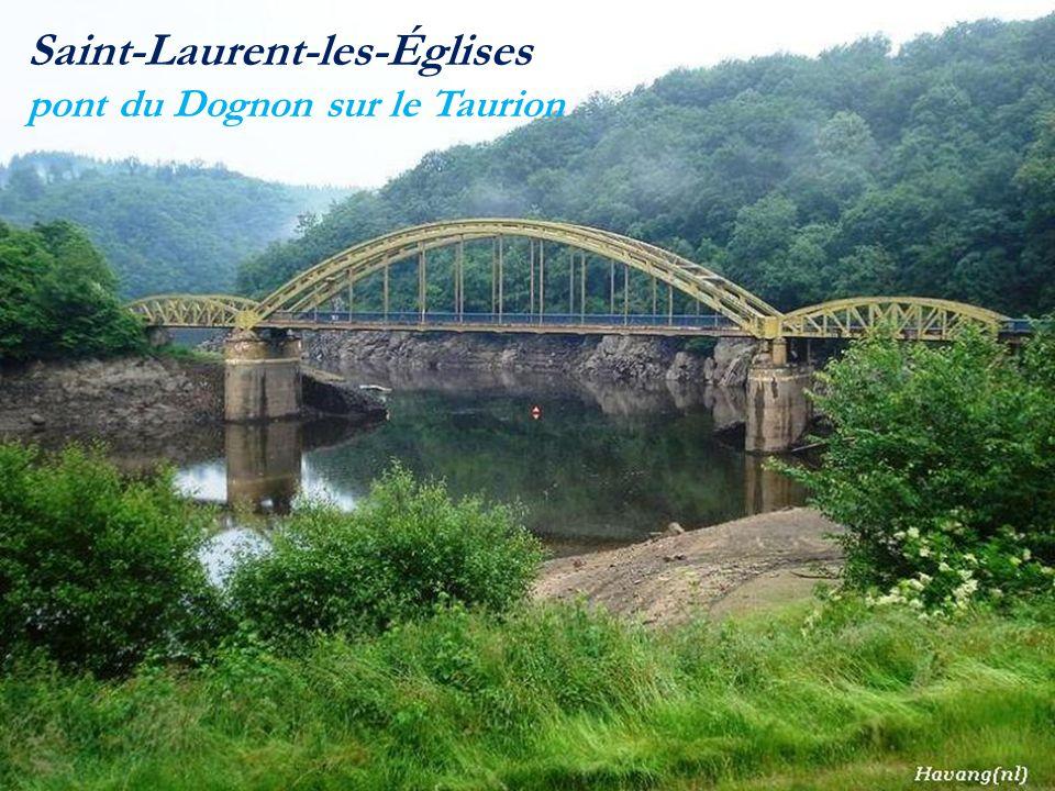 Saint-Laurent-les-Églises pont du Dognon sur le Taurion