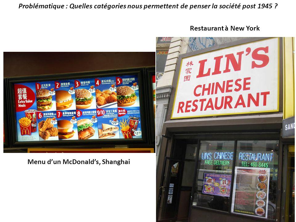 Menu d'un McDonald's, Shanghai
