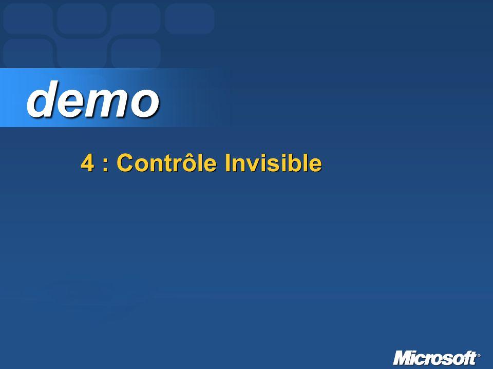 demo 4 : Contrôle Invisible