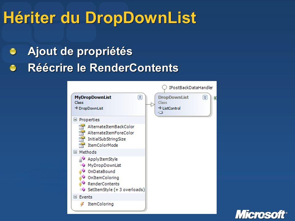 Hériter du DropDownList