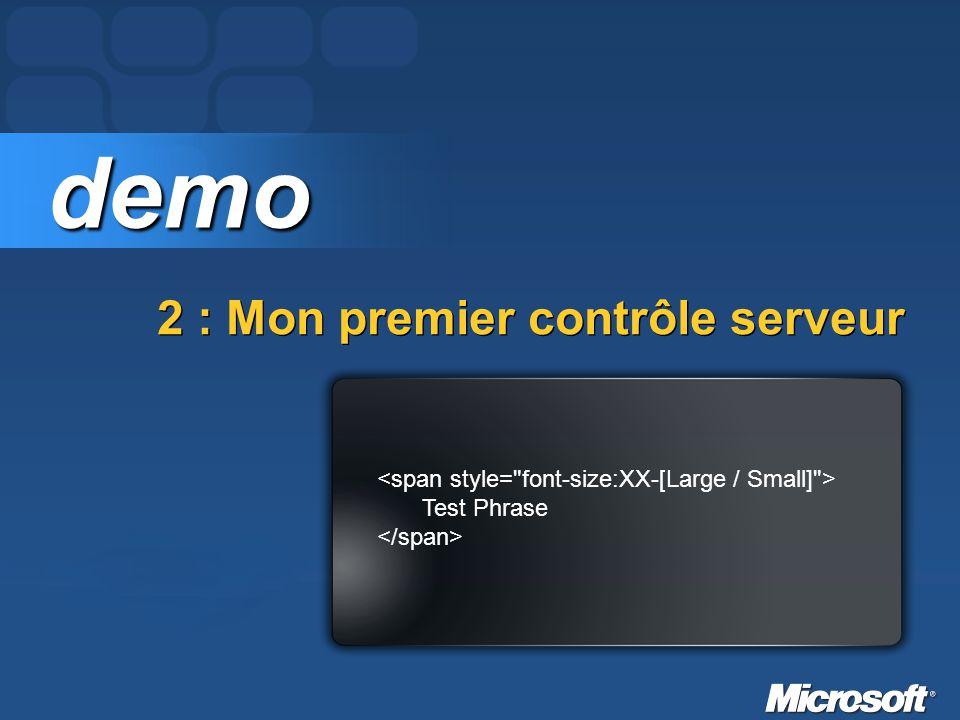 2 : Mon premier contrôle serveur