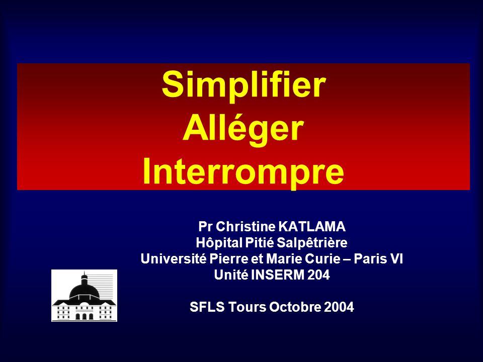 Simplifier Alléger Interrompre