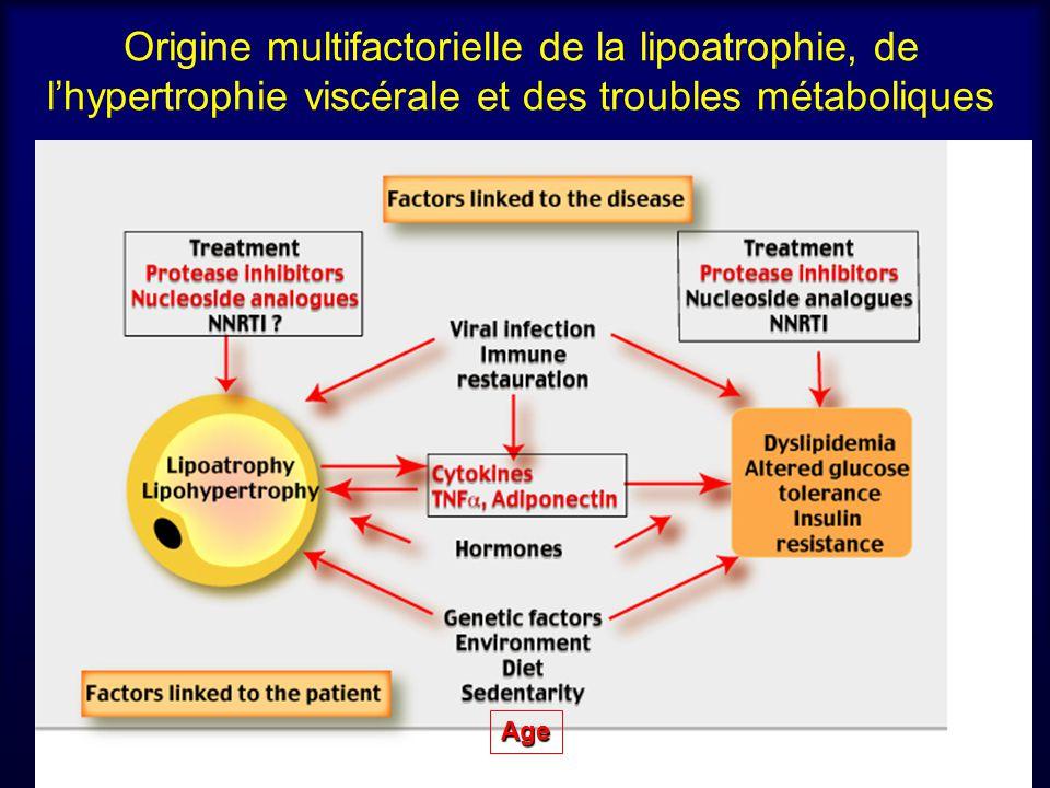 Origine multifactorielle de la lipoatrophie, de l'hypertrophie viscérale et des troubles métaboliques