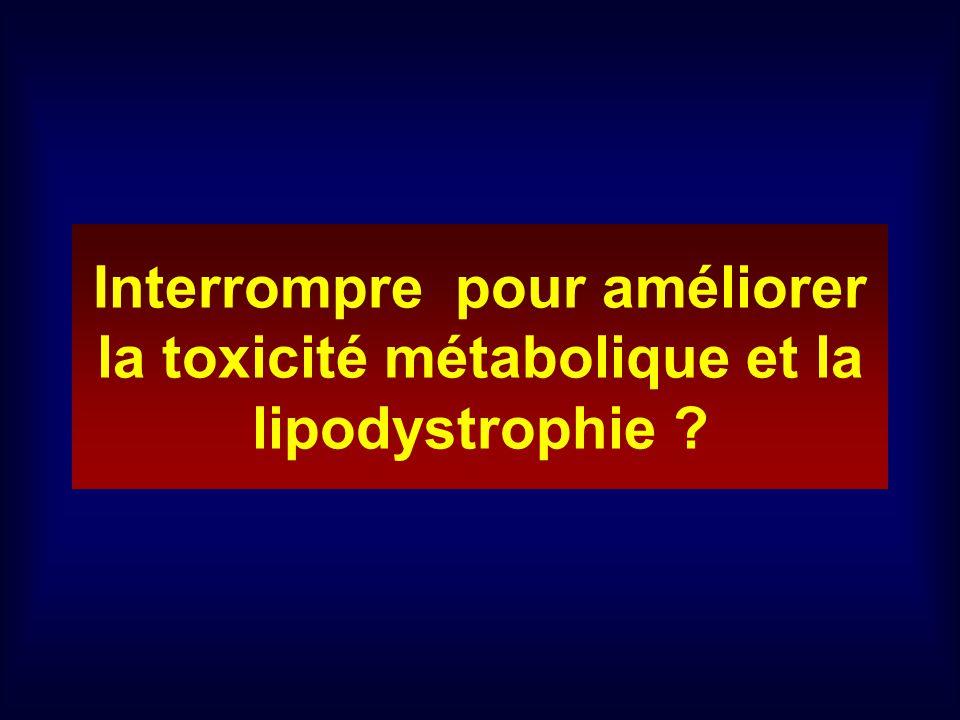 Interrompre pour améliorer la toxicité métabolique et la lipodystrophie