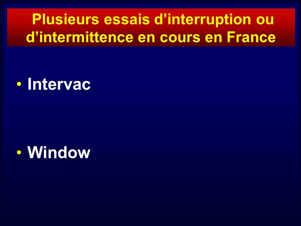 Plusieurs essais d'interruption ou d'intermittence en cours en France