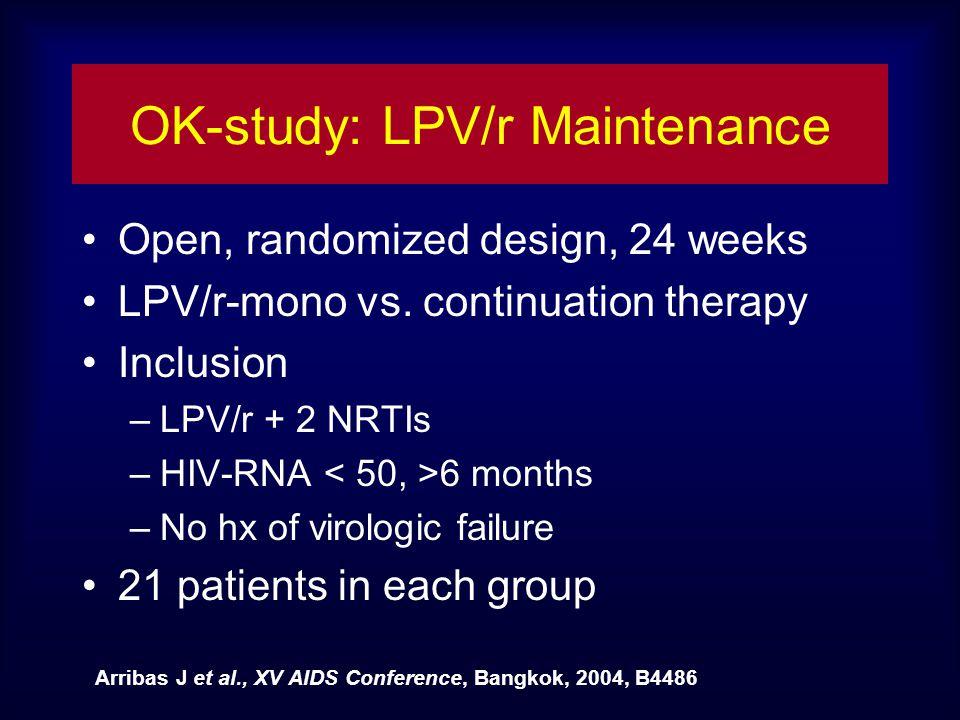 OK-study: LPV/r Maintenance