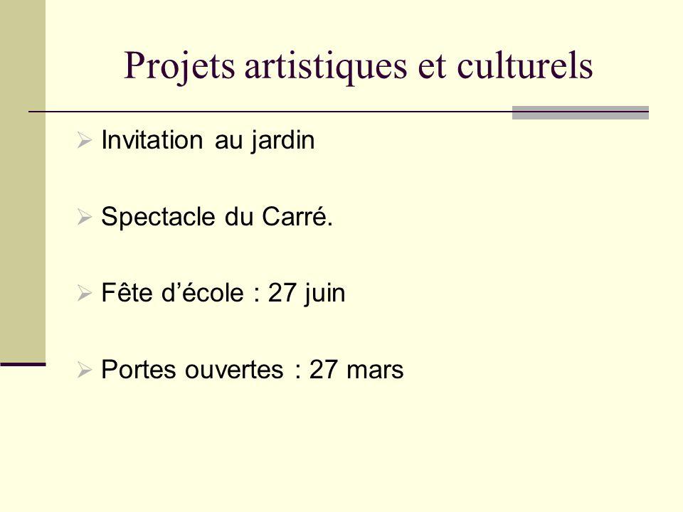 Projets artistiques et culturels
