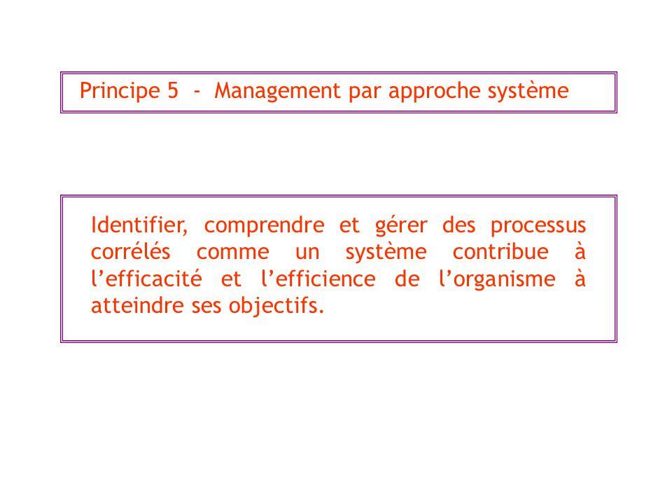 Principe 5 - Management par approche système