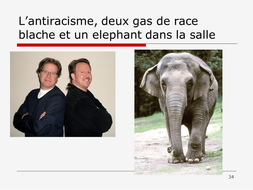 L'antiracisme, deux gas de race blache et un elephant dans la salle