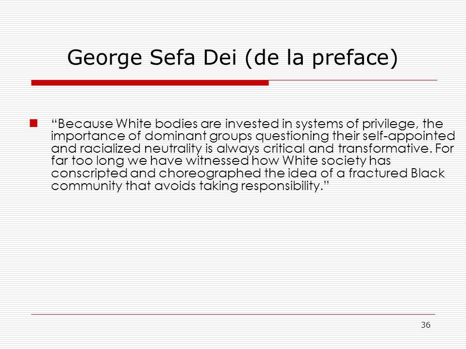 George Sefa Dei (de la preface)