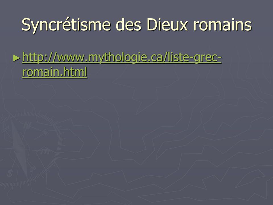 Syncrétisme des Dieux romains