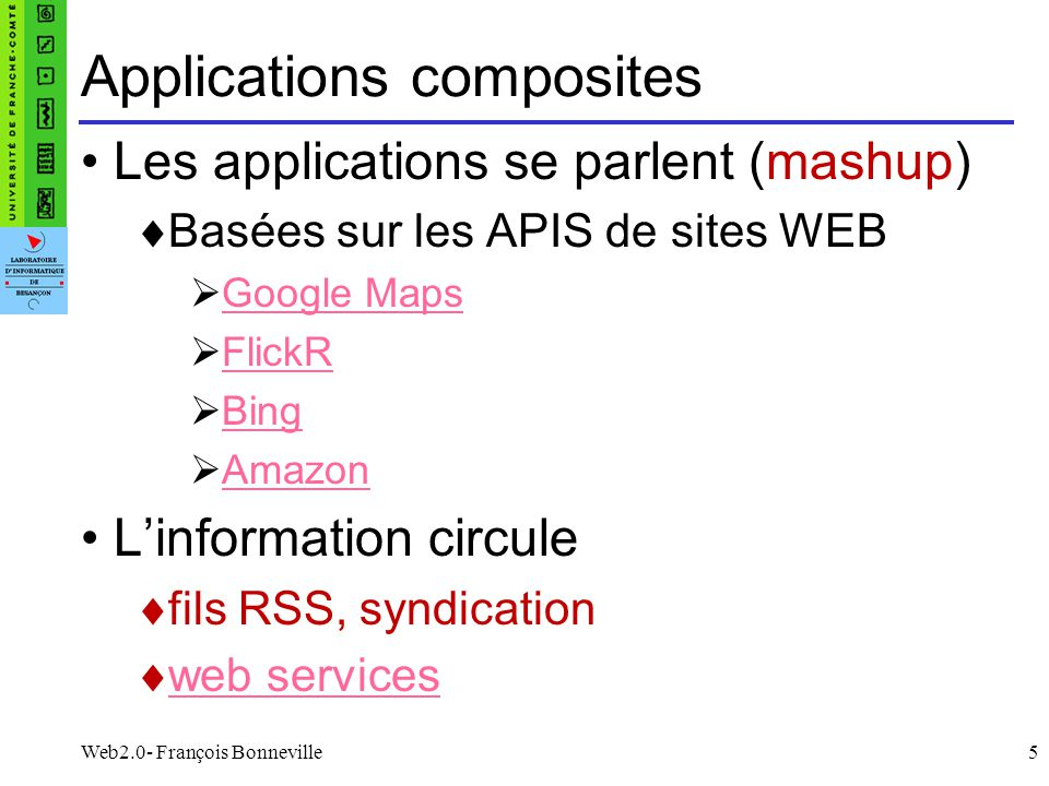 Applications composites