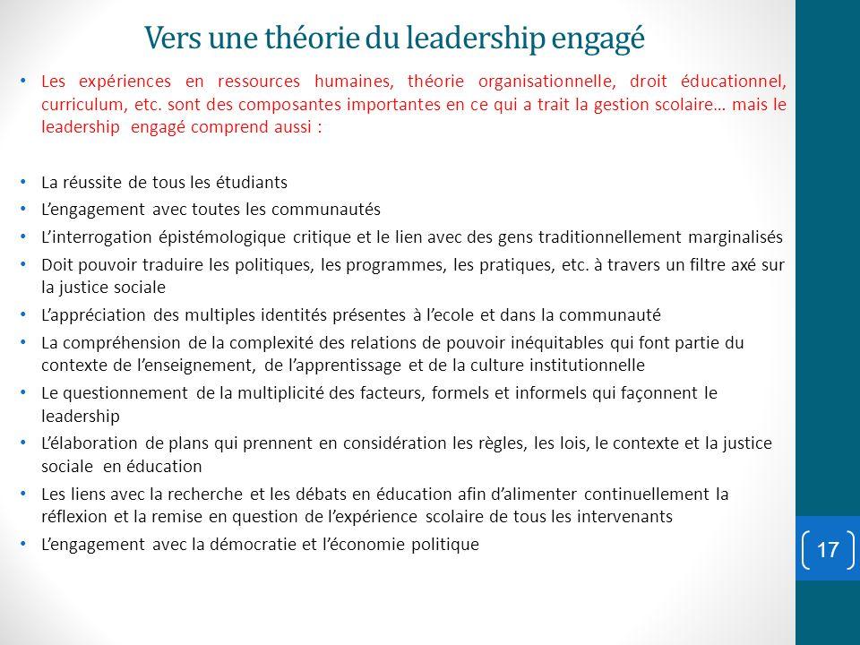 Vers une théorie du leadership engagé