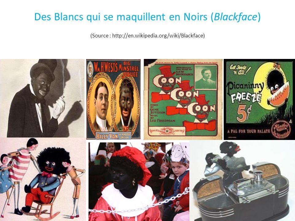 Des Blancs qui se maquillent en Noirs (Blackface) (Source : http://en