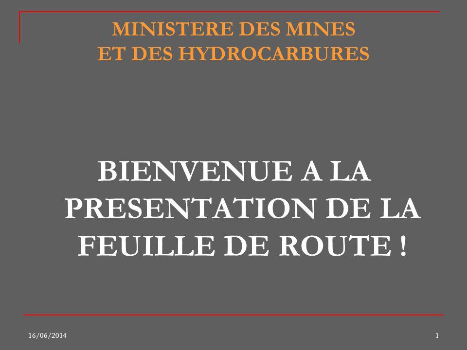 MINISTERE DES MINES ET DES HYDROCARBURES