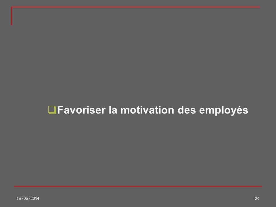 Favoriser la motivation des employés
