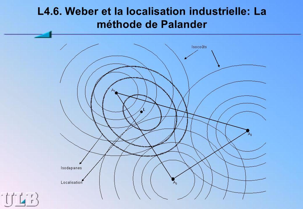 L4.6. Weber et la localisation industrielle: La méthode de Palander