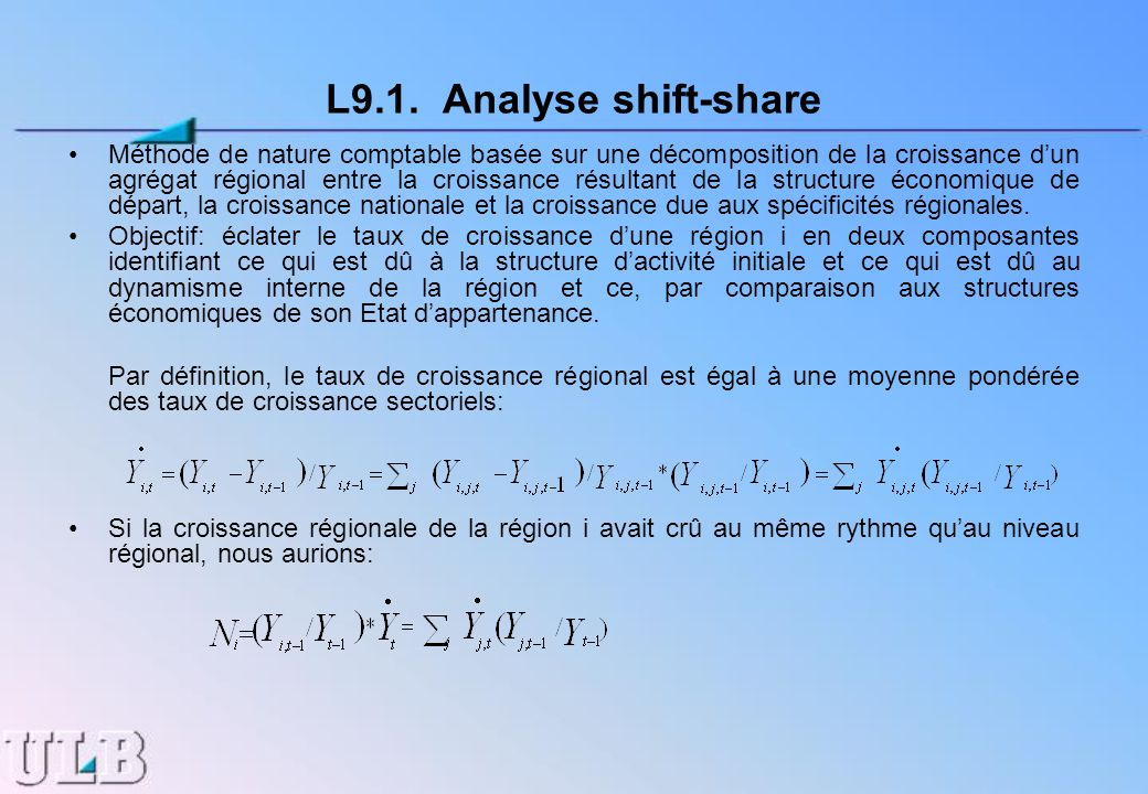 L9.1. Analyse shift-share