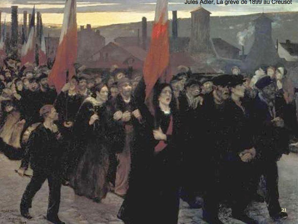 Jules Adler, La grève de 1899 au Creusot