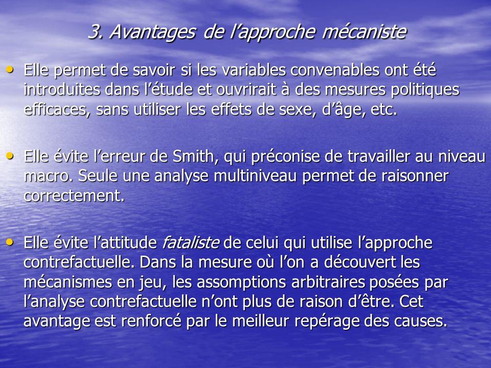 3. Avantages de l'approche mécaniste