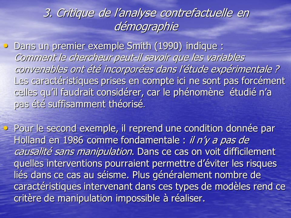 3. Critique de l'analyse contrefactuelle en démographie