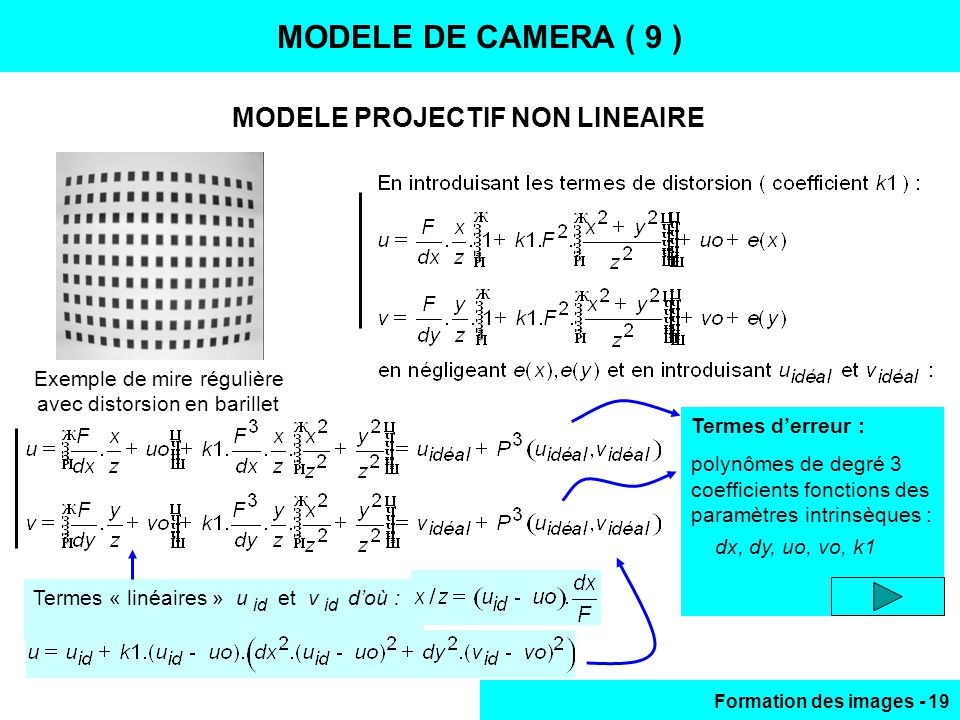 MODELE PROJECTIF NON LINEAIRE