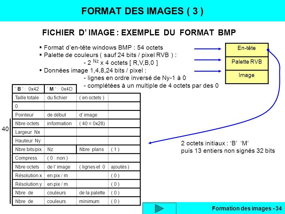 FICHIER D' IMAGE : EXEMPLE DU FORMAT BMP