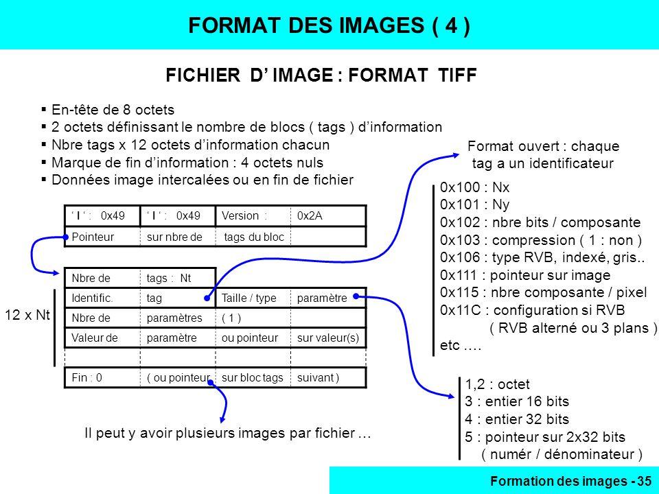 FICHIER D' IMAGE : FORMAT TIFF