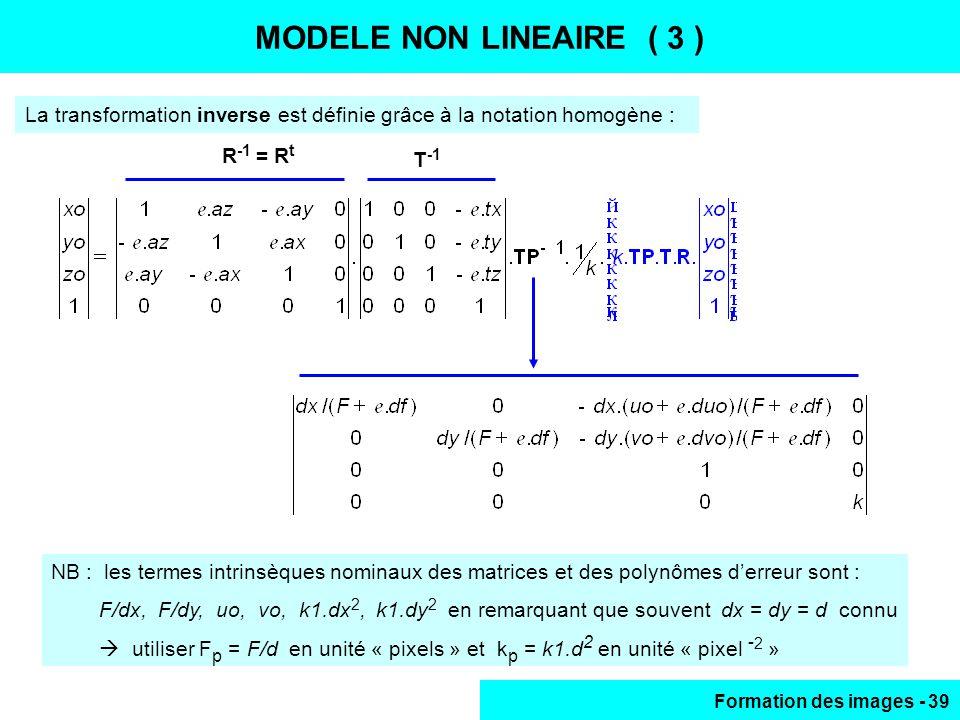 MODELE NON LINEAIRE (3) MODELE NON LINEAIRE ( 3 )