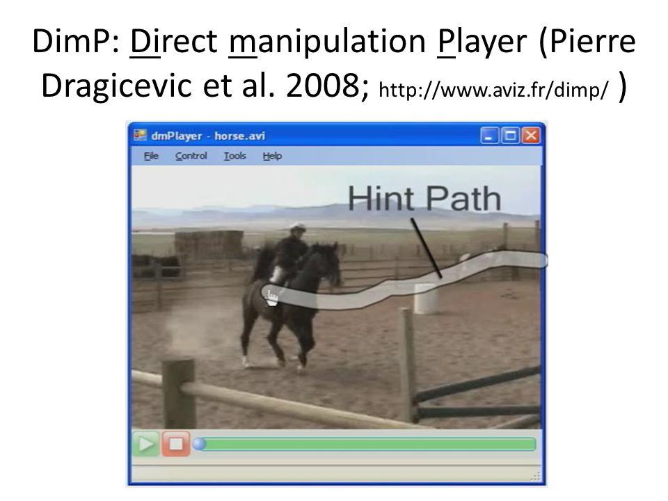 DimP: Direct manipulation Player (Pierre Dragicevic et al