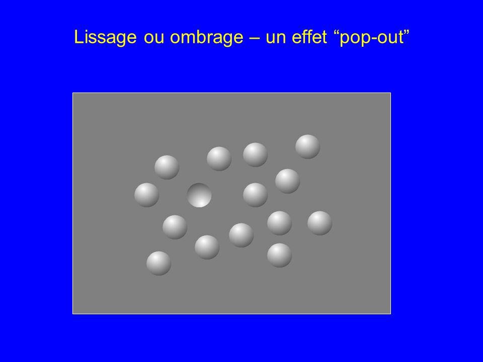 Lissage ou ombrage – un effet pop-out