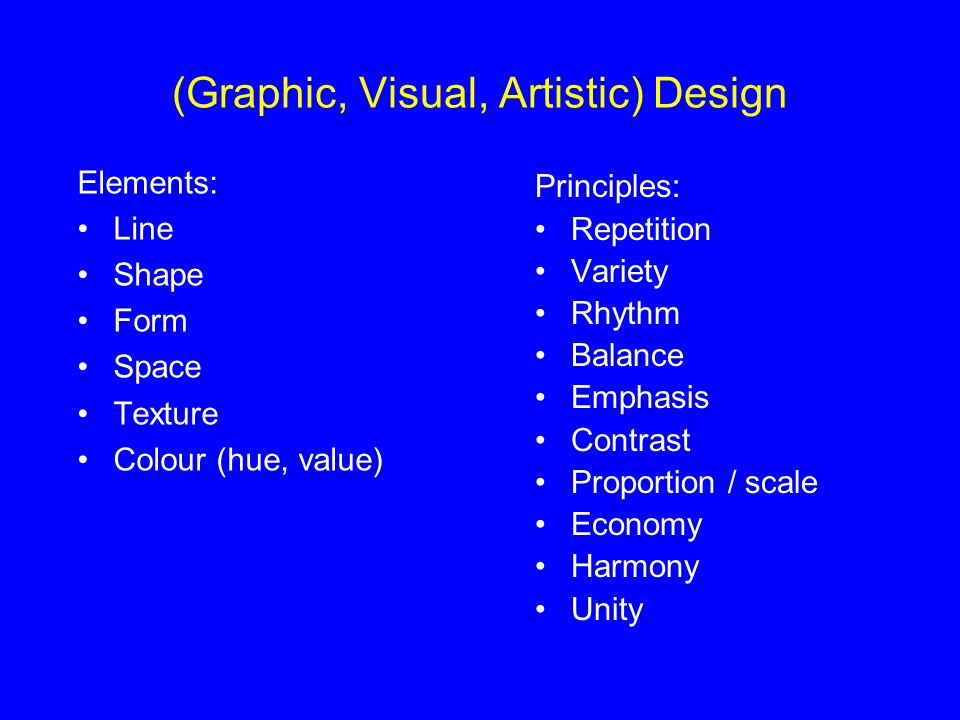 (Graphic, Visual, Artistic) Design