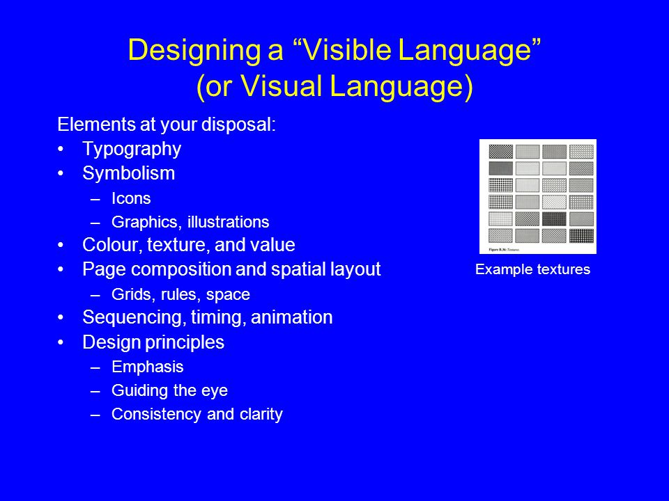 Designing a Visible Language (or Visual Language)