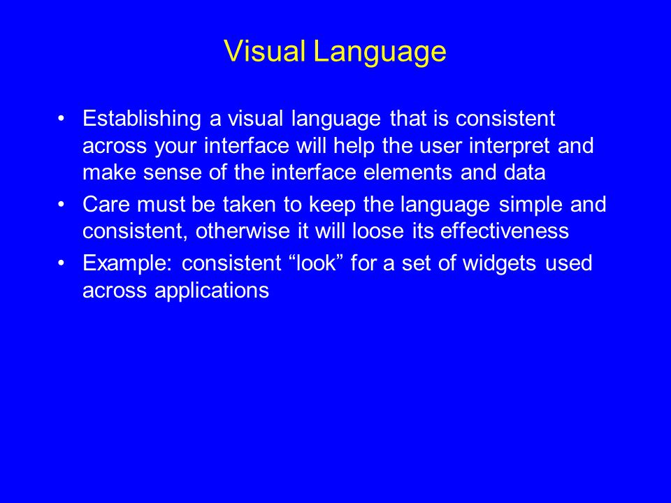 Visual Language
