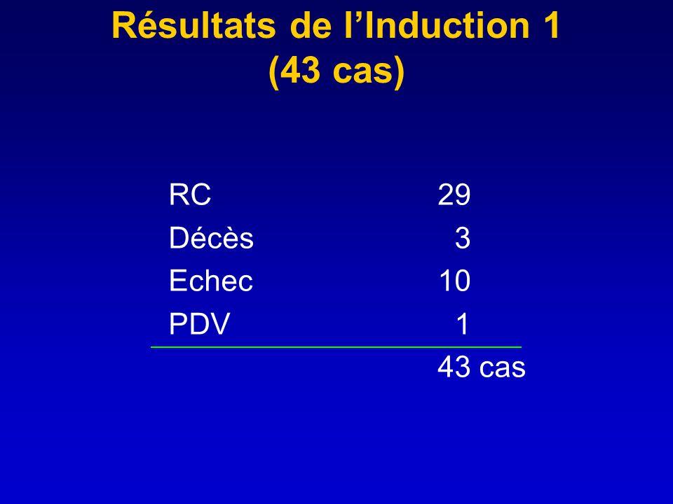 Résultats de l'Induction 1 (43 cas)