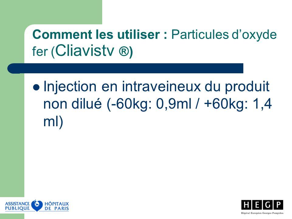 Comment les utiliser : Particules d'oxyde fer (Cliavistv ®)