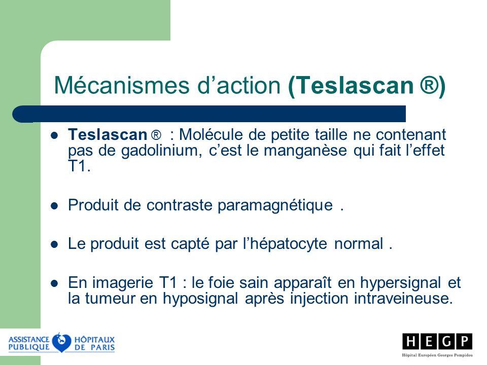 Mécanismes d'action (Teslascan ®)