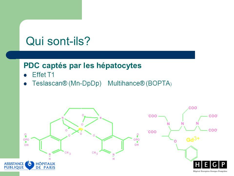Qui sont-ils PDC captés par les hépatocytes Effet T1