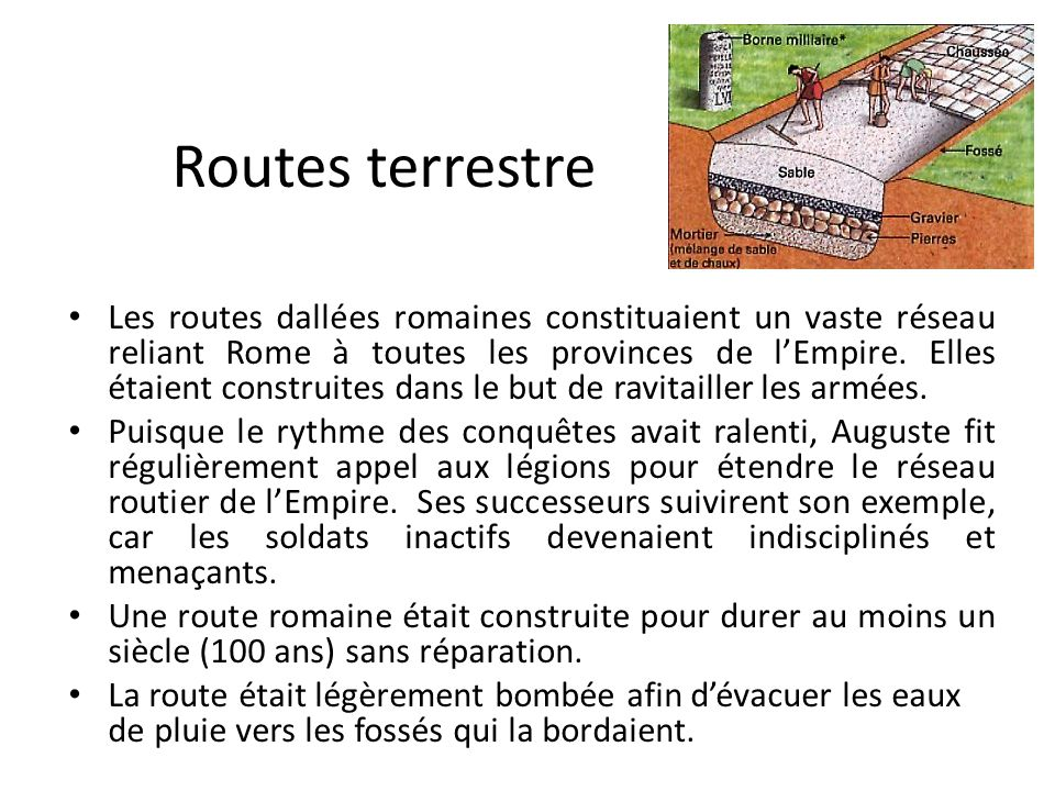 Routes terrestre