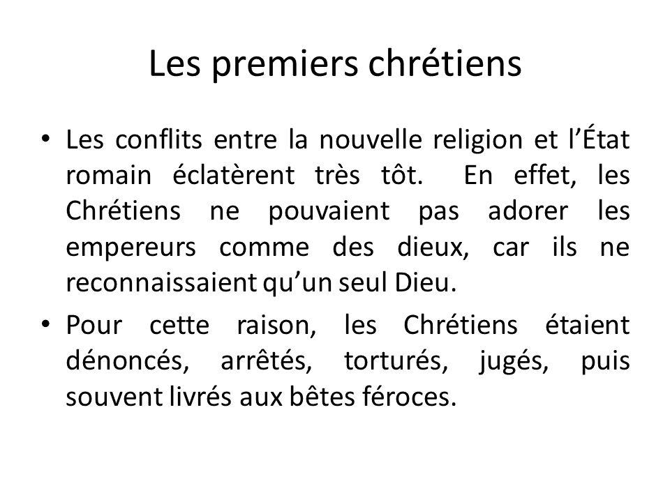 Les premiers chrétiens