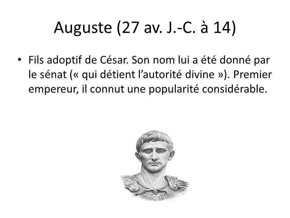 Auguste (27 av. J.-C. à 14)
